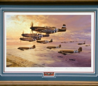 D-DAY THE AIRBORNE ASSAULT <br> Framed Collectors Piece