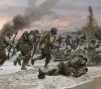 ASSAULT ON OMAHA BEACH<br> The Commemorative Limited Edition Print & Book Portfolio
