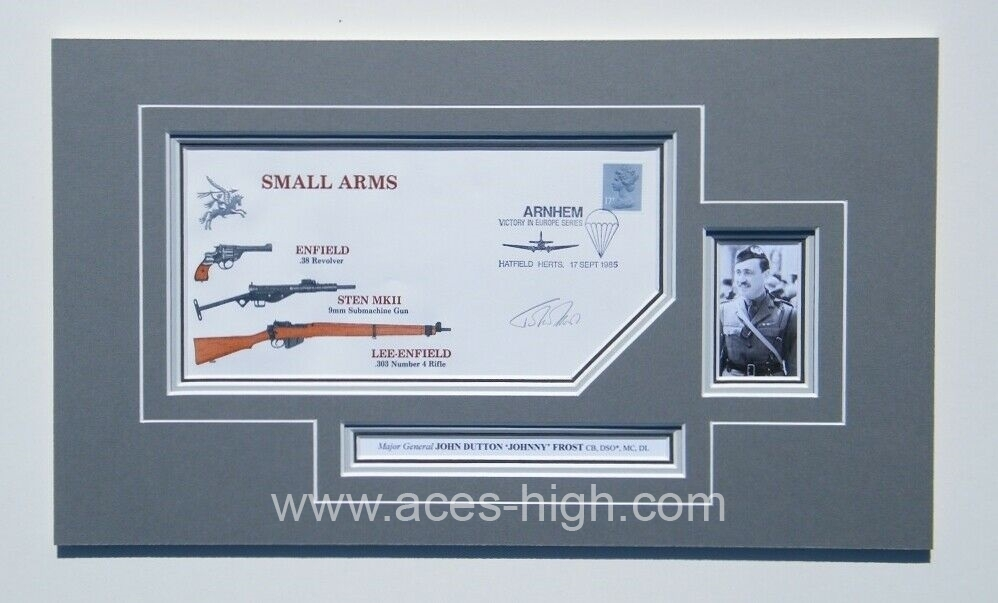 DSO* Matted 1985 FIRST DAY Cover SIGNED by Major General John Frost CB DL MC